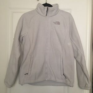 The North Face Jackets & Coats - North Face Fleece Zip Up Jacket Gray Cream M